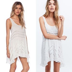 Free People Voile Lace Trapeze Slip Dress in White
